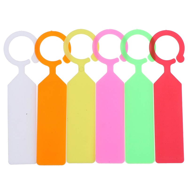 50PCS Plastic Plants Tags Nursery Garden Ring Label Pot Marker Stake Hanging Tags Greenhouse Bonsai Collar Tags High Quality