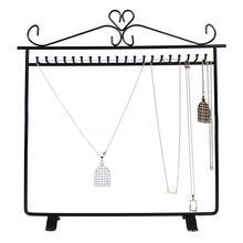 Schmuck Rack Display Lagerung Hängen Halter Ohrring Halsketten Organizer Armband Halskette schmuck display stand aufhänger