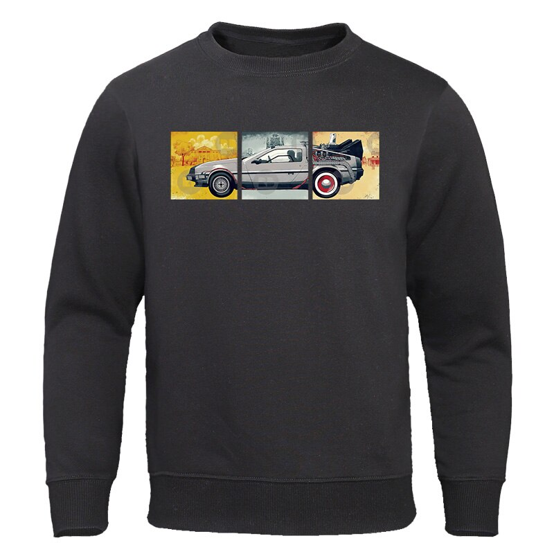 Back to the Future Sweatshirt 2019 Autumn New Hoodies Hip Hop Sweatshirts Men Fashion Brand Streetwear Casual Warm Men Tracksuit