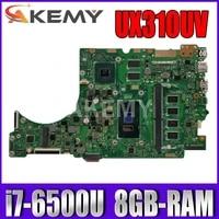 UX310UV Laptop motherboard fur ASUS ZenBook UX310UQ UX310UQK UX310U original mainboard 8GB-RAM I7-6500U GT940MX-2GB