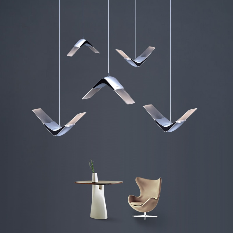 Lámparas con palo artistic estilo enteren lámpara colgante de línea nórdica de...