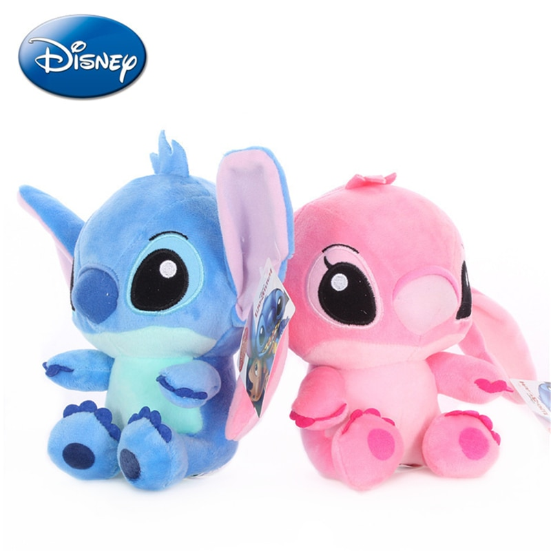 20cm Disney Lilo & Stitch Couple Models Cartoon Stuffed Plush Dolls Anime Plush Baby Toys Pendant To