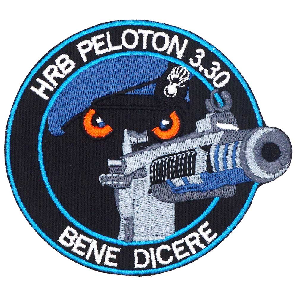HRA PELOTON gato con pistola parches bordados de estilo motero adhesivos para ropa Ropa Accesorios insignia