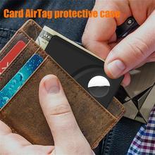 Airtags-soporte para estuche de billetera, rastreador de tarjeta de crédito, funda protectora para Apple Airtag, localizador, billetera antipérdida, Clip, accesorios Airtag