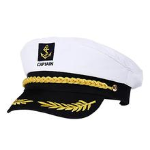 Adult Yacht Boat Ship Sailor Captain Costume Hat Cap Navy Marine Admiral Embroidered Captain'S Cap (