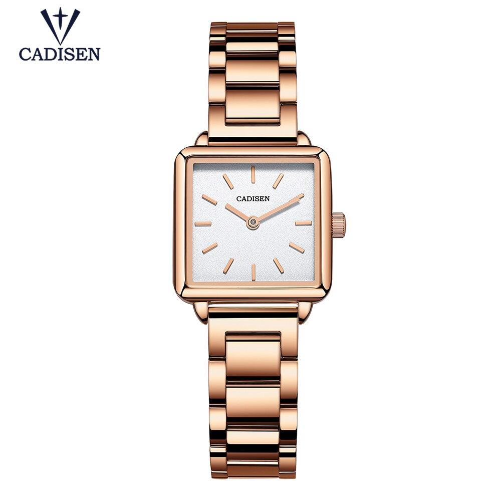 ساعات كوارتز نسائية ذهبية فاخرة ، ساعة يد عمل بسيطة للنساء ، هدية