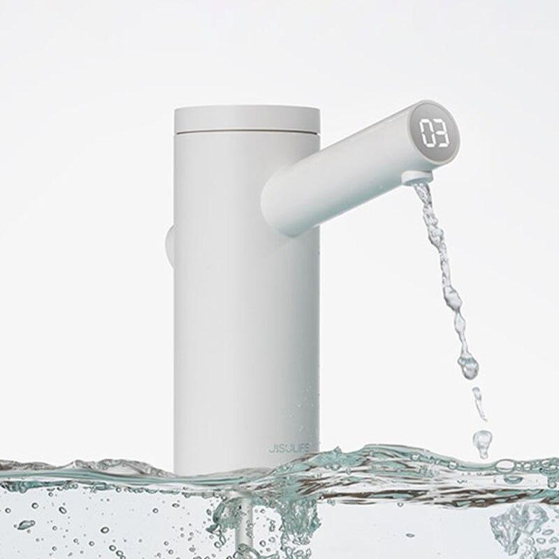 Kbxsatart dispensador inteligente de agua bomba de agua eléctrica USB cuantitativa cubo botella dispensador con TDS prueba 1800mAh