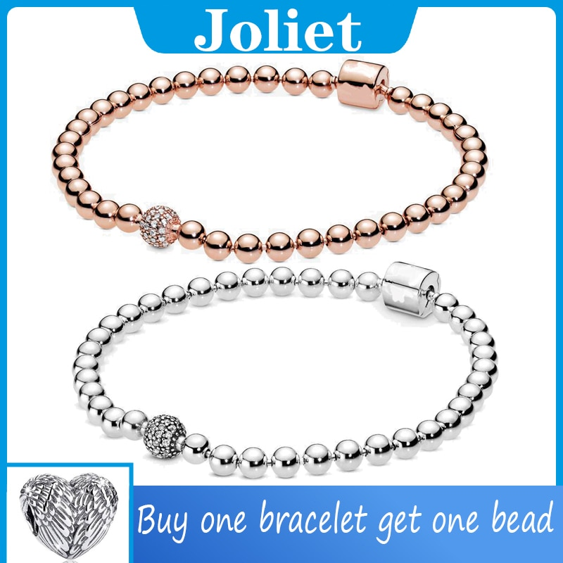 100% 925 Sterling Silver Bracelet FIT Original Authentic Pan Beads Charm Chain for Women Luxury Jewelry Snake