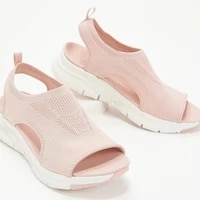 women sandals mesh casual ladies wedge shoes solid color platform slip on female sandalias soft thick bottom mujer