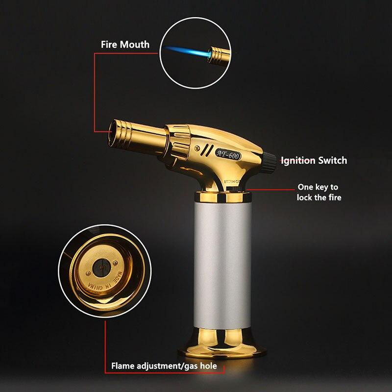 1300C Windproof Metal Welding Torch Spray Gun Turbo Butane Gas Lighter Cigar Accessories Outdoor Camping Kitchen Igniter enlarge