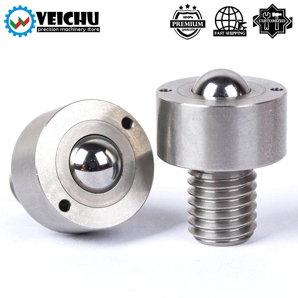 VEICHU 1 قطعة بكرات الكرة Converyor عجلة VCN314 جميع الفولاذ المقاوم للصدأ الكرة تحمل مستديرة رئيس مسمار الأسطوانة الغطاسون
