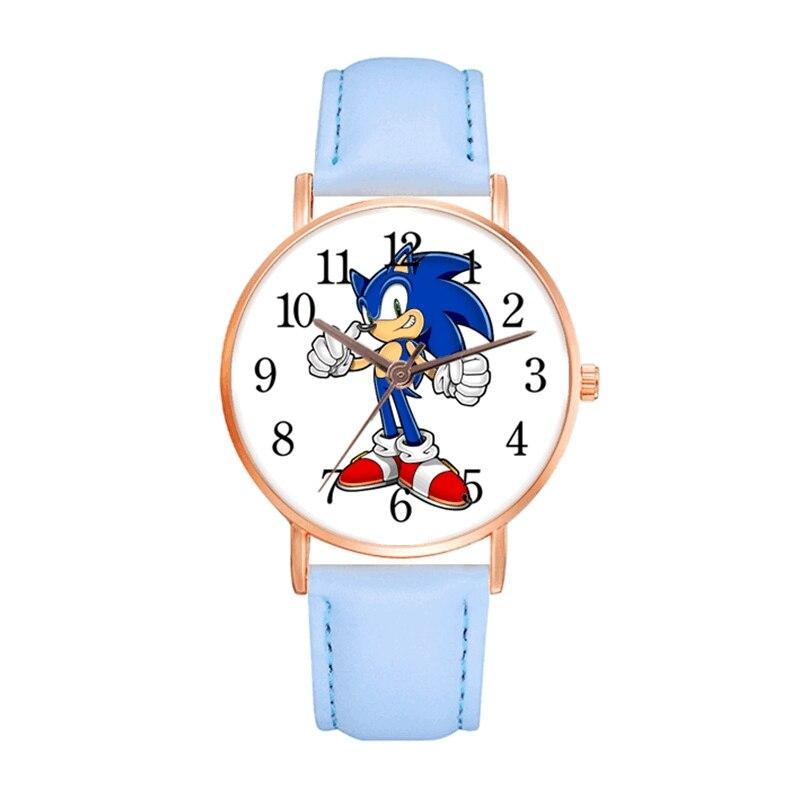 AliExpress - 2020 New Sonic Watch Kids Leather Digital Quartz Watches Children Cartoon Amy Rose Clock Boys Hours Girls