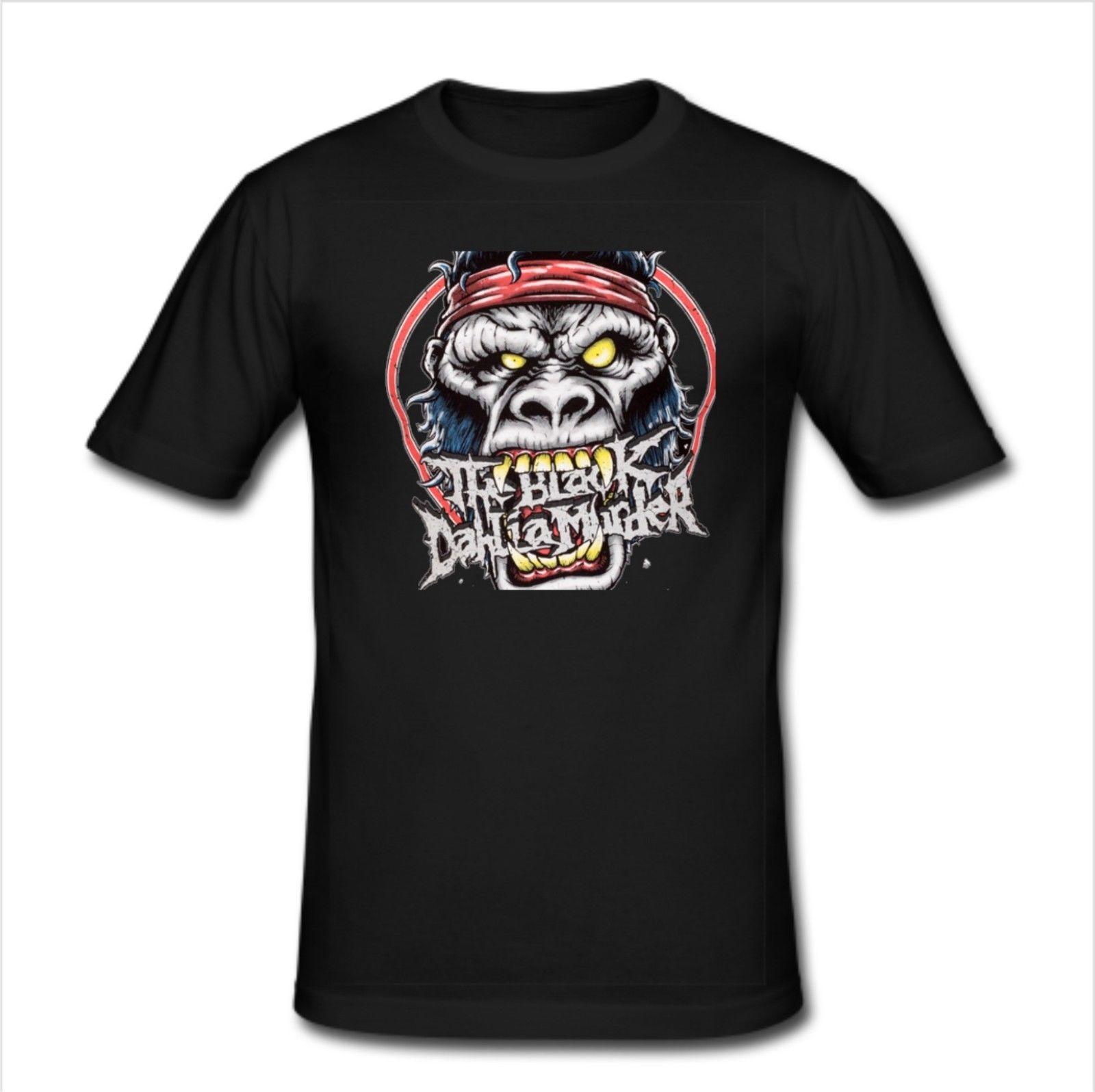 Mens Slim Fit T Shirt Size S-3XL - The Black Dahlia Murder Metal Band Fashion Short Sleeve Sale 100 % Cotton O-Neck T-Shirt