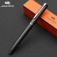 jinhao black metal fountain pen black efmbent nib 0 380 61 0mm matte barrel office business gift ink pen