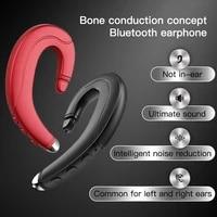 bone conduction bluetooth headset portable universal unilateral handsfree wireless hanging ear mobile phone call sport earphone