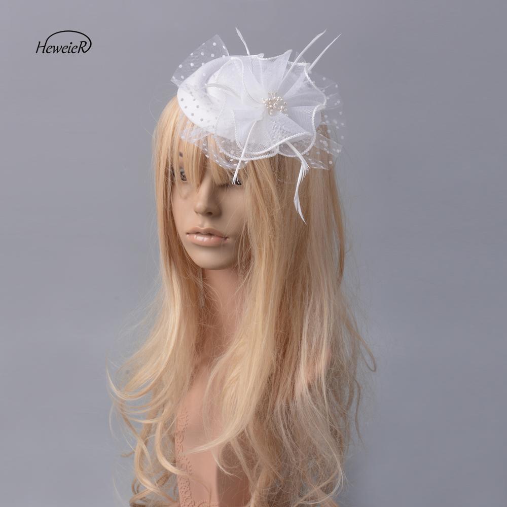 Accesorios de mujer de moda hecho a mano red blanca sombrero Boda nupcial Clip de cabello para fiesta