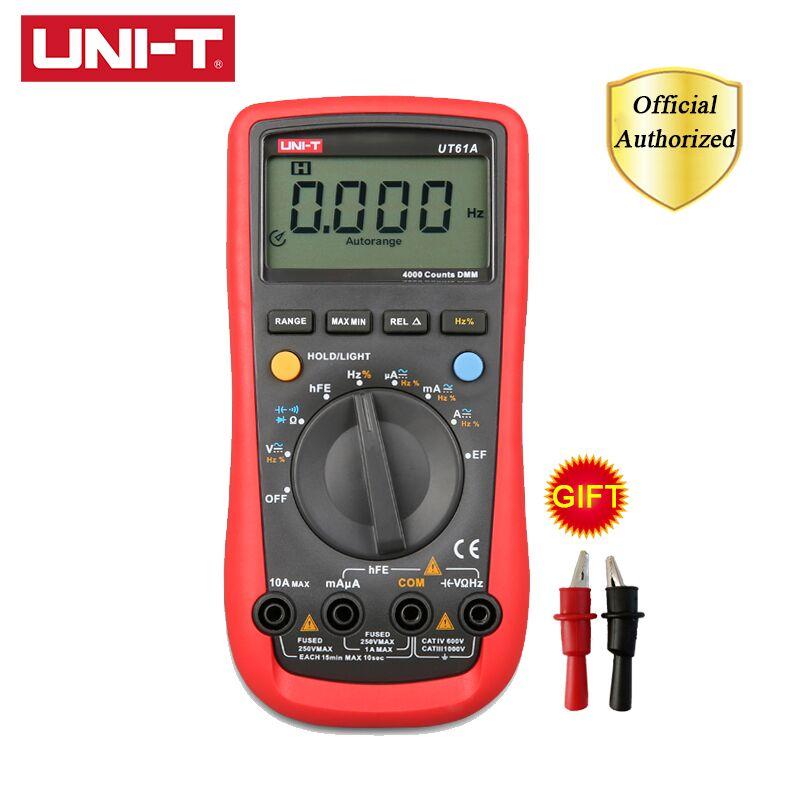 Multímetro Digital UT61A/B/C/D/E UNI-T UT61E rango automático verdadero RMS retención de datos CA CC multimetro voltaje USB y Monitor de corriente