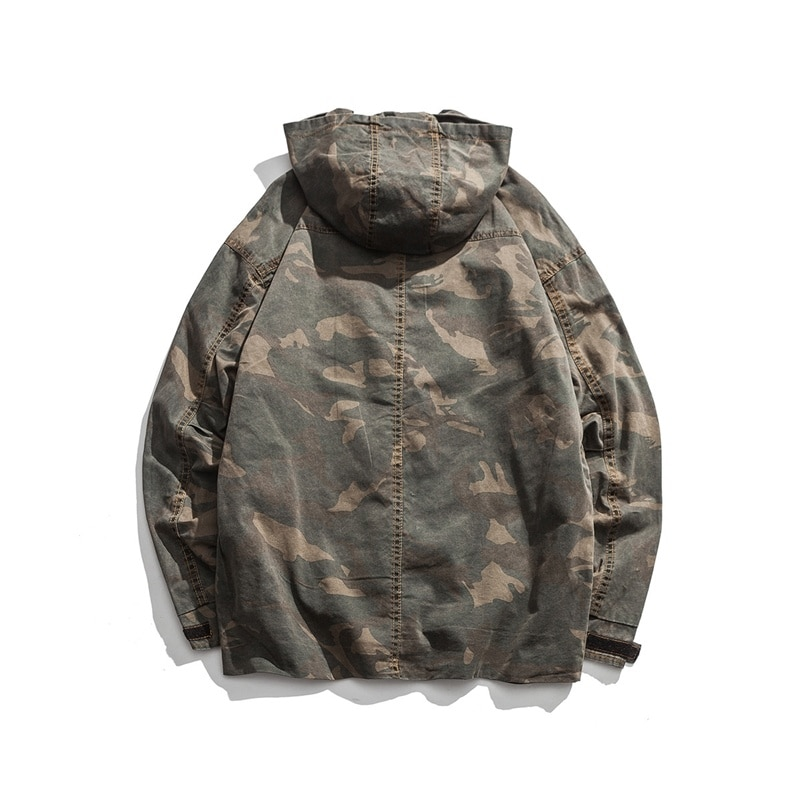 x 2021 spring hooded trend camouflage jacket