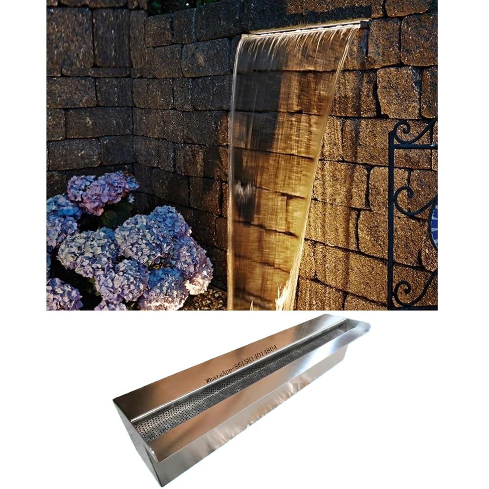 حمام في الهواء الطلق شلال المياه المتساقط/ستارة المياه الاصطناعية/الفولاذ المقاوم للصدأ 304 شلال/منفذ جدار المياه المتدفقة/spillway