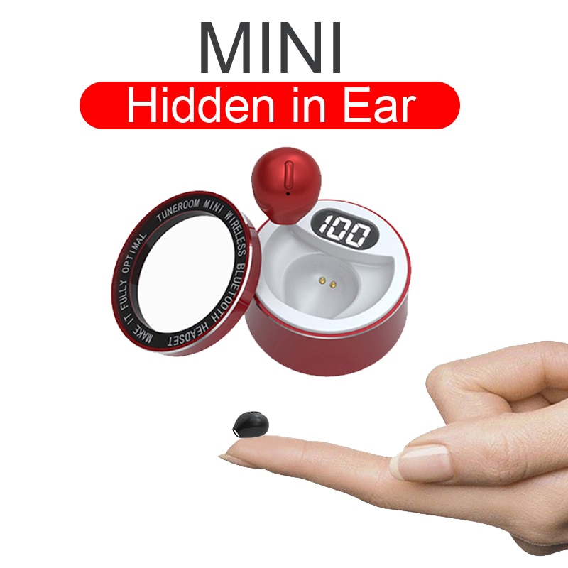 Mini Invisible Head phones Wireless Bluetooth Earphones Waterproof Single Earbuds With Microphone ha