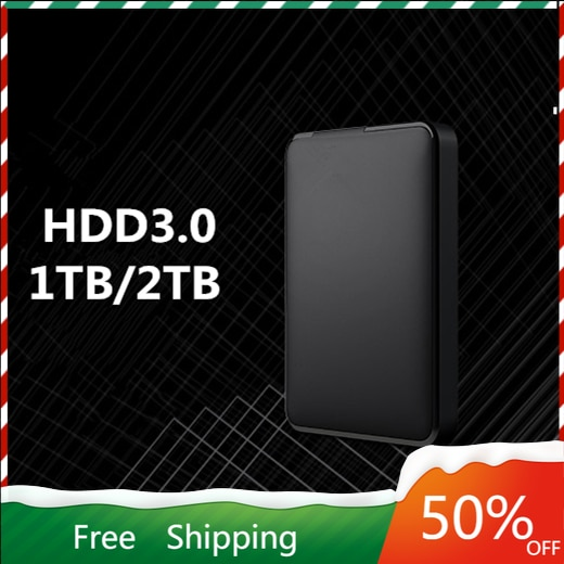 Portable External Hard Drive USB 3.0 1TB 2TB HDD External Hard Disk HD for Laptop/Mac