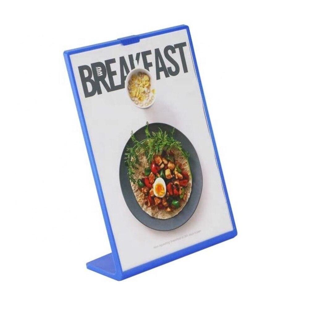 Стенд для этикетки с акриловым покрытием A4, цена, карточка, меню, рамка для картины, фото, стеллаж для стола