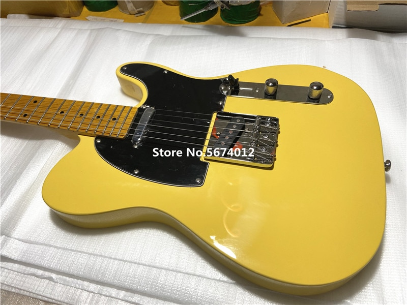 Custom store heritage classic vintage cream yellow 6 string electric guitar maple xylophone neck free shipping enlarge