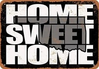 SRongmao     signe metallique 8x12  maison douce  Oklahoma  noir et gris