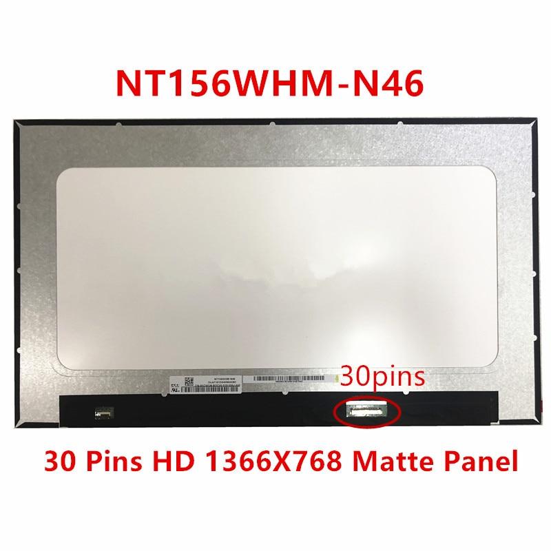 "15,6 ""para BOE NT156WHM-N46 NT156WHM N46 LCD pantalla matriz de portátil 30 pines HD 1366X768 mate reemplazo del Panel"