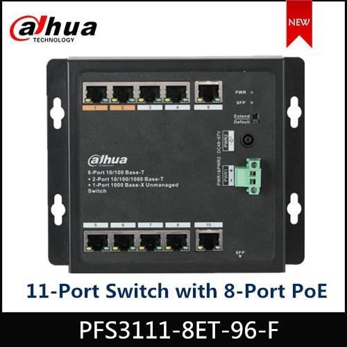 Dahua PoE Switch PFS3111-8ET-96-F 11-Port Switch with 8-Port PoE