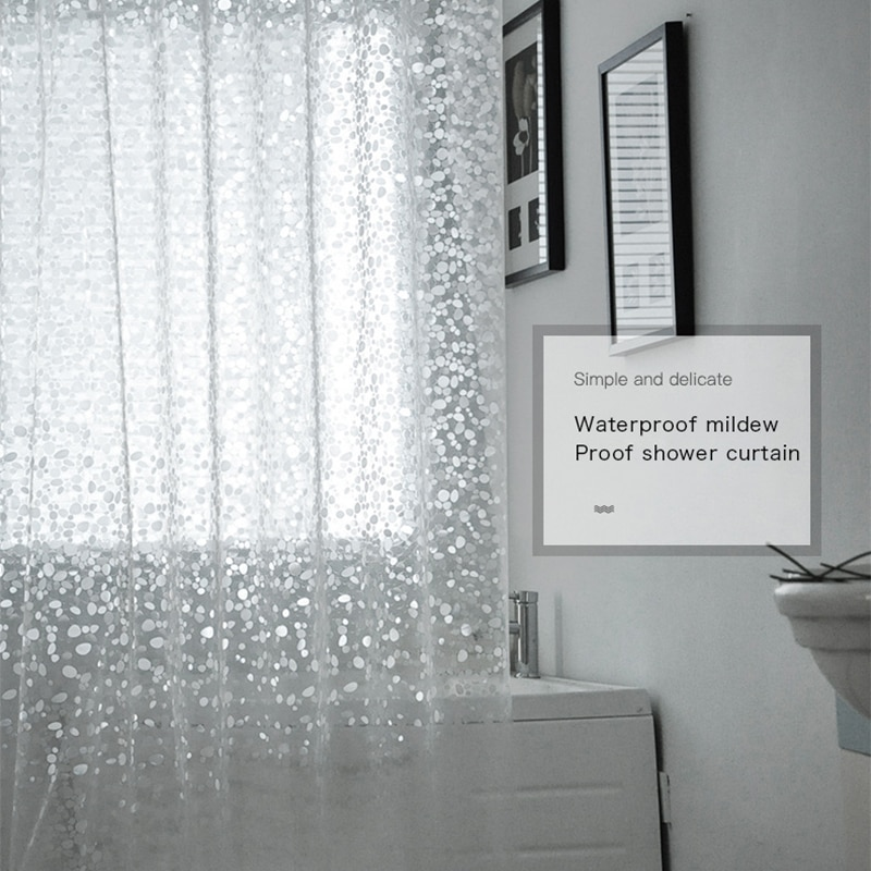 3D Sheer Shower Curtain Waterproof Shower Curtain Transparent Bathing Bathroom Curtains For Home Decoration Bathroom Accessories 3d sheer shower curtain waterproof shower curtain transparent bathing bathroom curtains for home decoration bathroom accessories