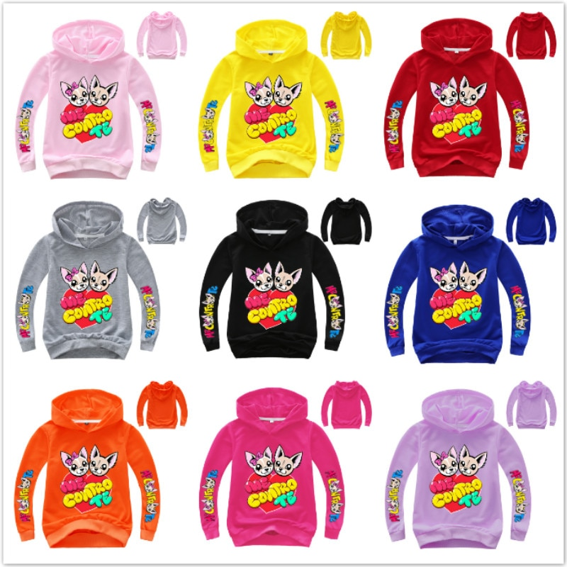 Me Contro Te Cartoon Hoodie Ragazze Abiti Baby Boy Meisje Sweatshirt Jojo Siwa Kid Felpa Con Cappuccio Kleding La Maglietta outfit