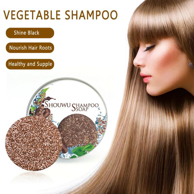 Shampoo de cabelo artesanal sabão poligonum multiflorum barra 100% puro planta shampoos de cabelo sabão óleo controle cuidados com o cabelo ferramenta tslm1