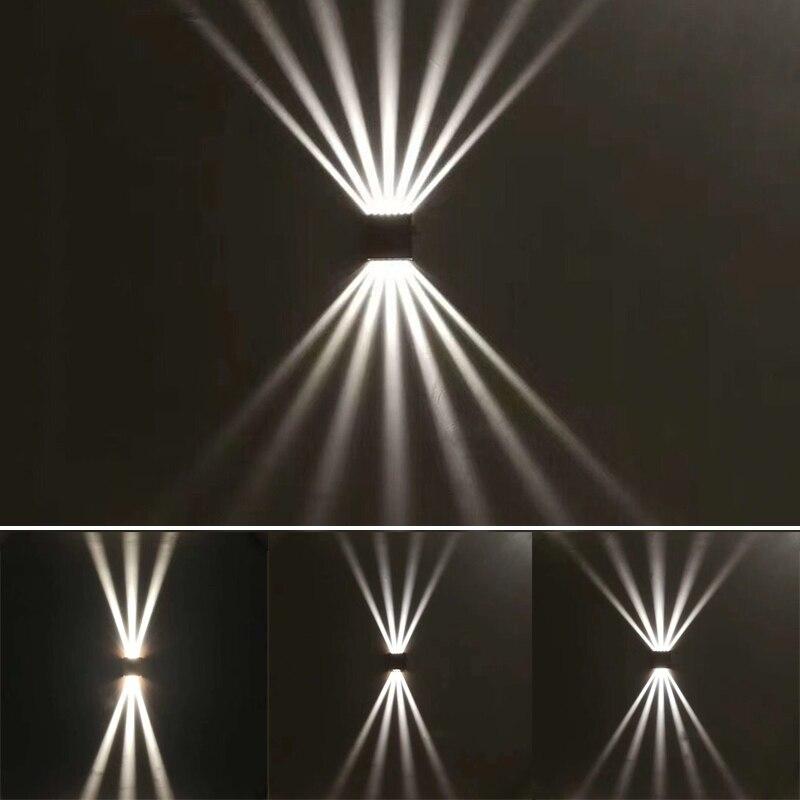 إضاءة ليد خارجية أضواء الجدار الألومنيوم مقاوم للماء IP65 الشرفة ضوء الحديثة الجدار مصباح الديكور شرفة ضوء مصباح حديقة