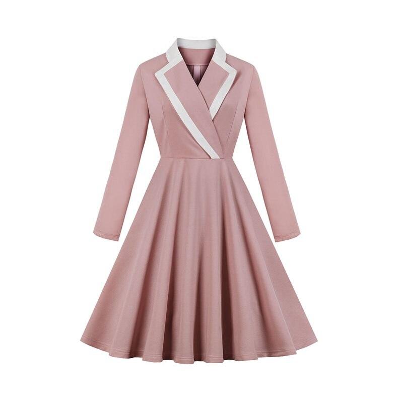 Sisjuly Vintage traje Collar manga larga una línea vestidos elegante Francia Oficina señoras vestido Retro hasta la rodilla traje fiesta vestido