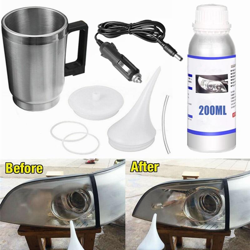 Headlight Restoration Repair Kit Liquid Polymer Chemical Polishing The Headlights Restoration Kit Car Headlights Polishing Steam