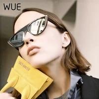wue oversize cat eyewear vintage sun glasses fashion woman cat eye sunglasses brand designer sunglasses cool red female