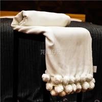 white plush bamboo fiber blanket tassel sofa cover fashion bamboo cotton leisure blanket oem