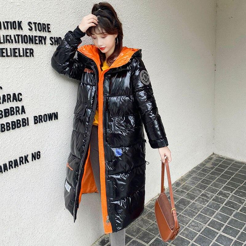 معطف نسائي شتوي, جاكيت شتوي جديد معطف نسائي بقلنسوة طويل سميك دافئ مبطن بالقطن سترات نسائية حجم كبير معطف مقاوم للرياح