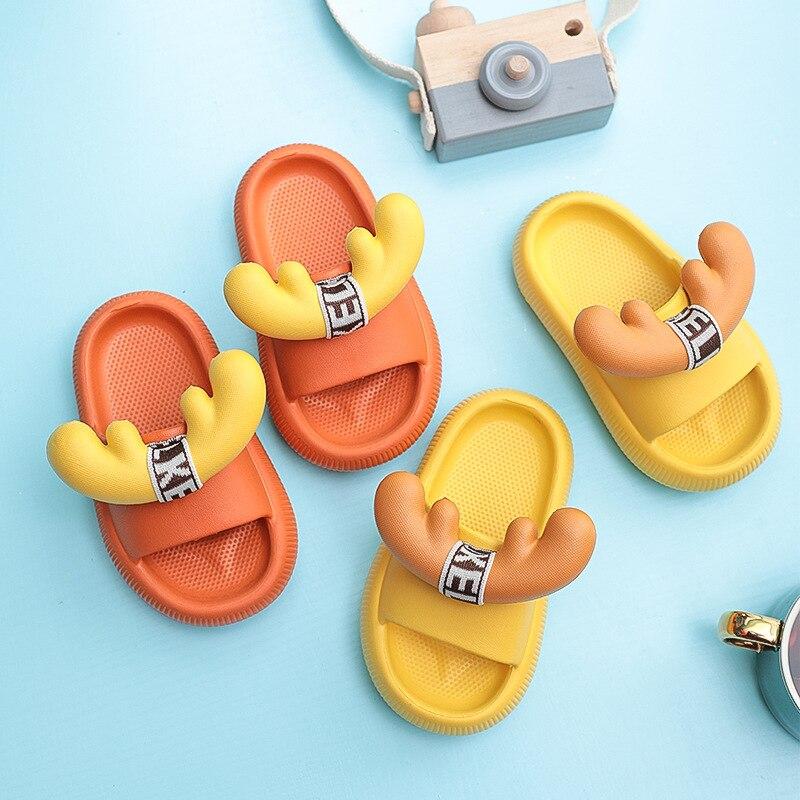 Children's Cute Cartoon Sandals Slippers Summer Non-slip Boys Girls Parent-child Indoor Outdoor Wear
