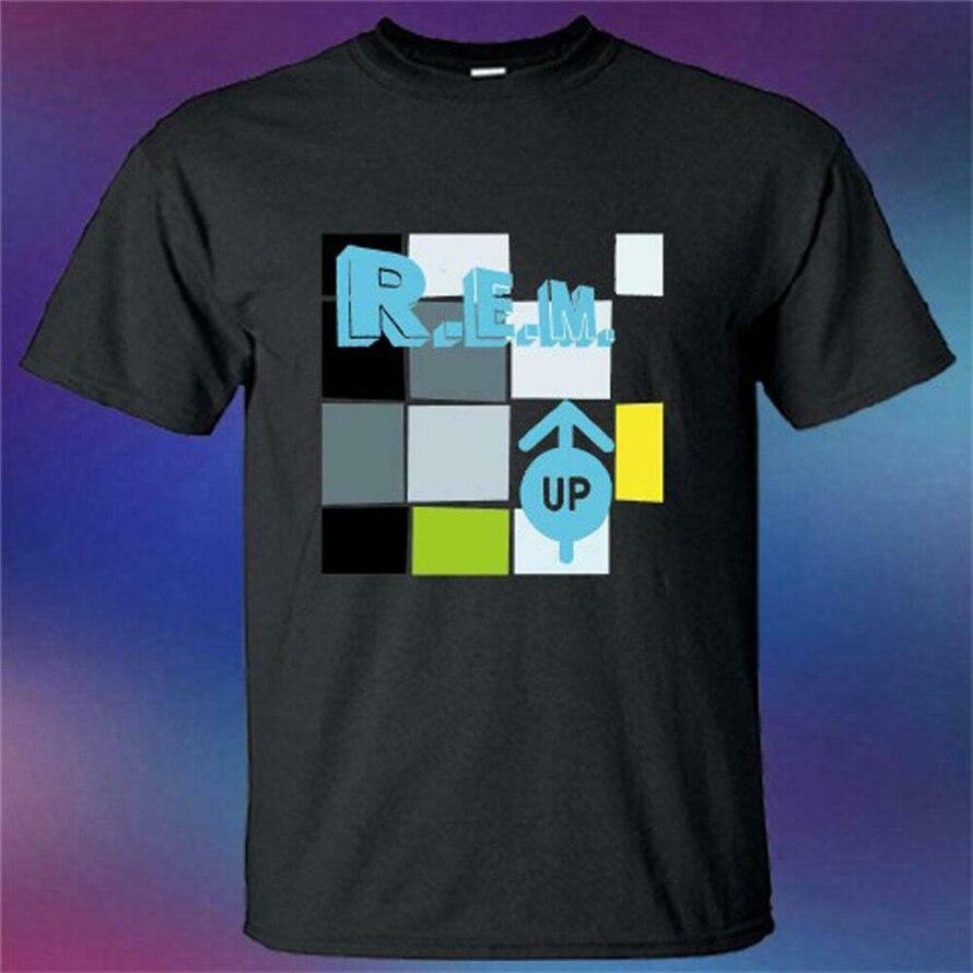 ¿Nuevo R.E.M? Camiseta negra con Logo de la cubierta del álbum de la banda de Rock talla S-3Xl Harajuku Tops moda clásica camiseta