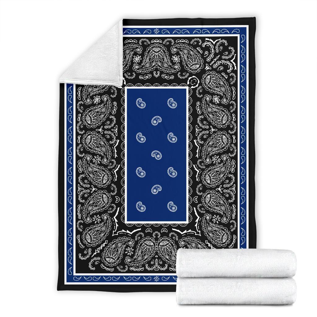 بطانية شيربا من الصوف باللونين الأزرق والأسود ، باندانا من القطيفة الدافئة ، رسوم متحركة للمكتب ، قيلولة