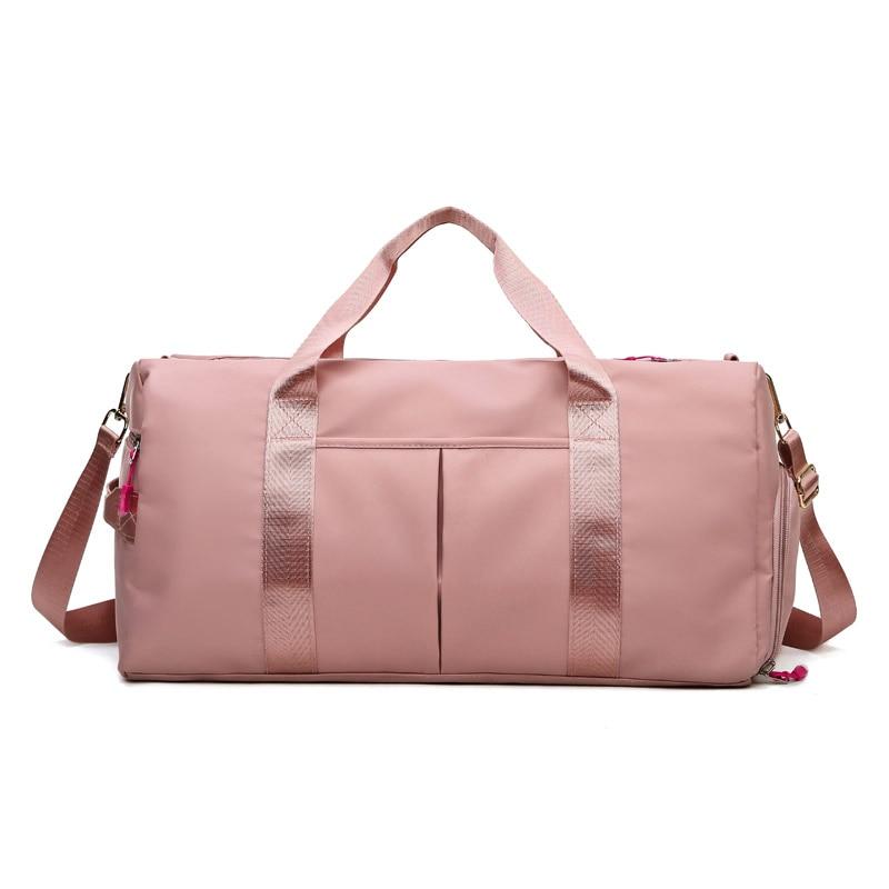 Outdoor Waterproof Nylon Sports Gym Bags Women Shoes Compartment Sport Bags Men Training Fitness Bag 2021 Yoga Running Handbag