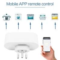 Prise WiFi Type N 16A  controle dalimentation  application Smart Life  commande vocale  compatible avec Alexa Google Home  prise intelligente bresilienne Standard