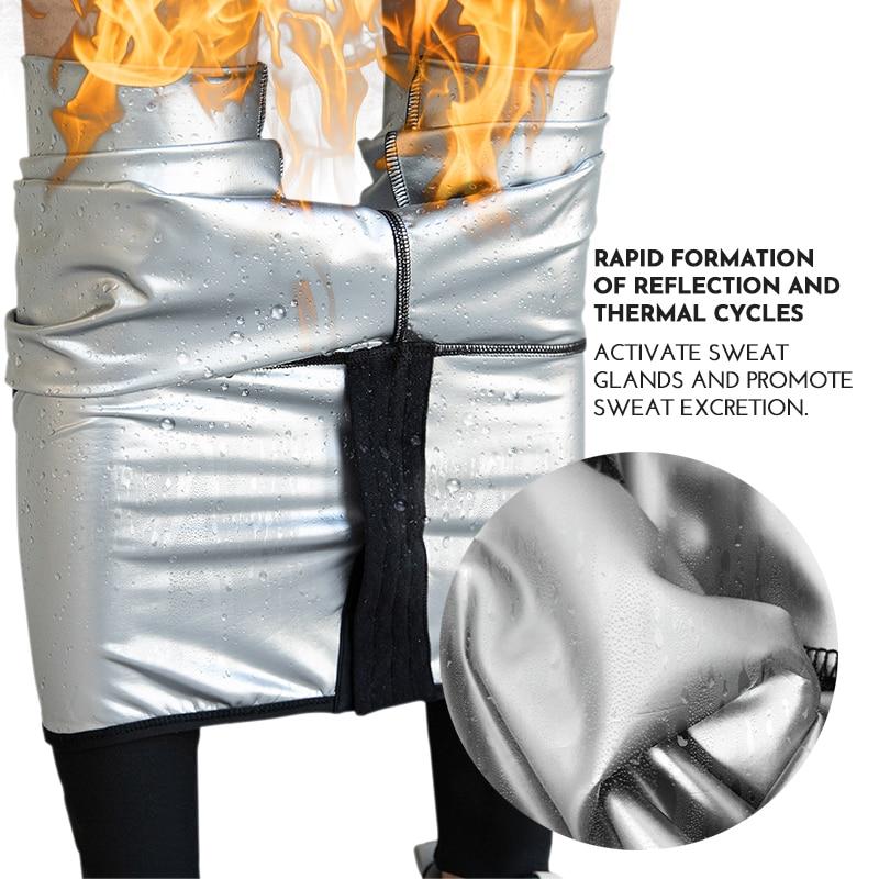 مدرب خصر s عرق ساونا سروال محدد شكل الجسم بنطلون تنحيف النساء مدرب خصر البطن حار الحرارية عرق طماق اللياقة البدنية تجريب