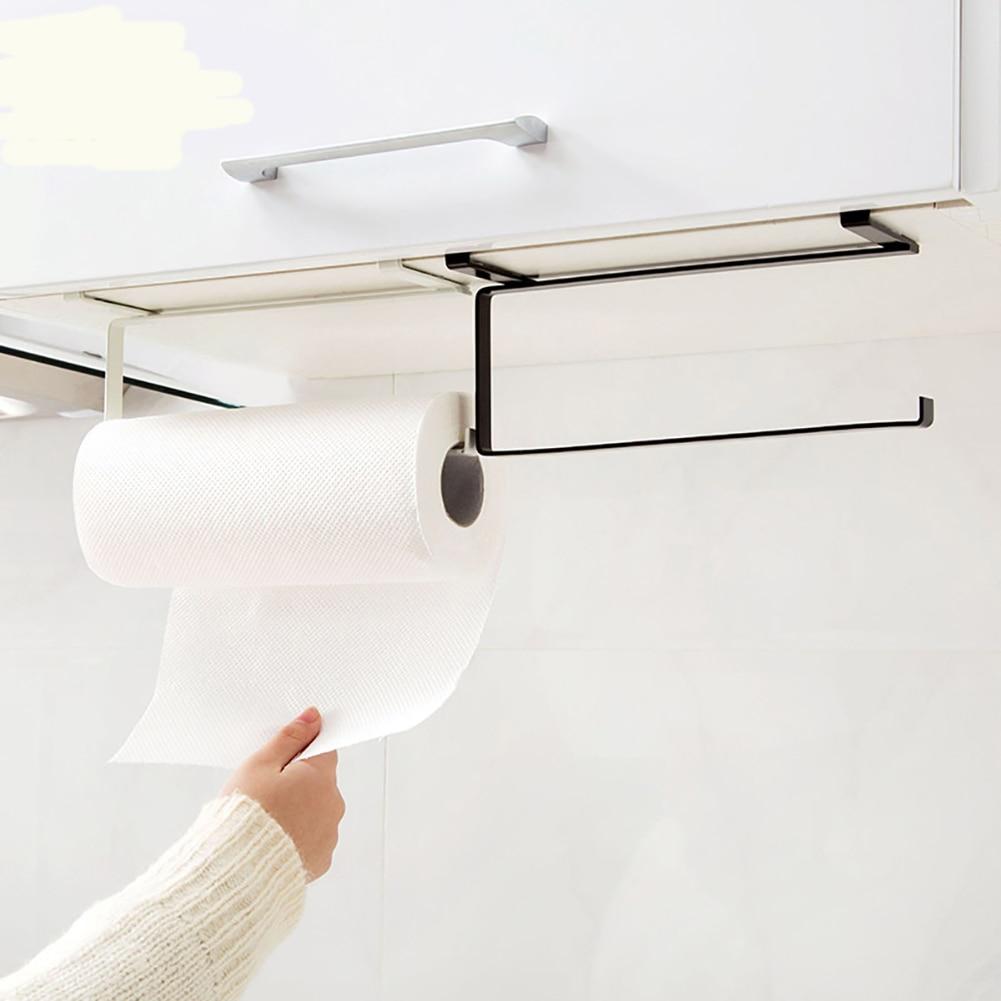Креативный кухонный держатель для бумаги, держатель для рулонной бумаги, бытовая вешалка для полотенец, кухонный подвесной стеллаж для хра...