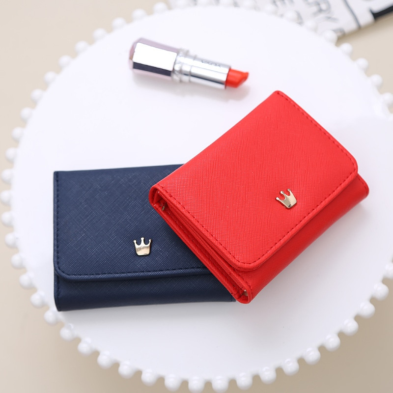 Women's Wallet Short Women Coin Purse Crown Wallets For Woman Card Holder Small Ladies Wallet Female
