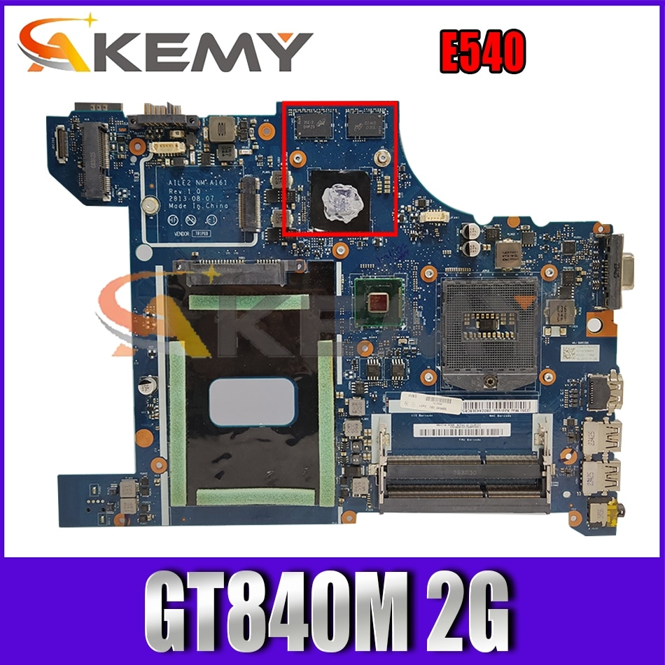 Akemy brand AILE2 NM-A161 For Lenovo ThinkPad E540 Laptop Motherboard P/N 04X5927 04X5928 GT840M 2G PGA947 HM87 DDR3