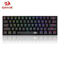 Redragon K530 Dragon 60% Компактная Беспроводная RGB клавиатура с 61 кнопкой, дизайн 5,0, игровая Bluetooth клавиатура, ПК фаблет