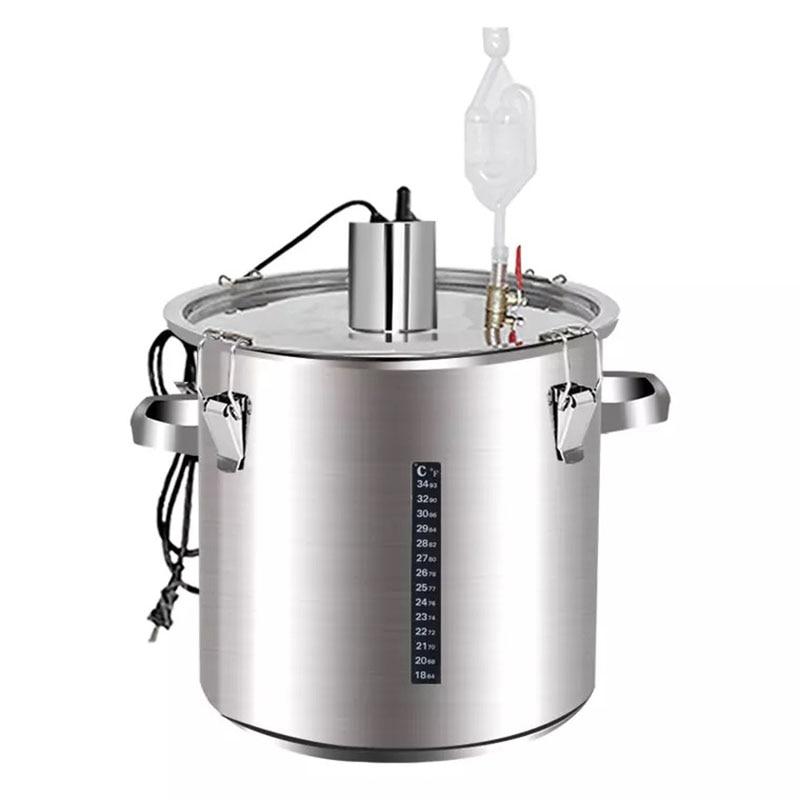 500 واط 50L Moonshine درجة حرارة ثابتة التخمير برميل برميل نبيذ جهاز تخمير من الفولاذ المقاوم للصدأ خزان النبيذ تبخير النبيذ
